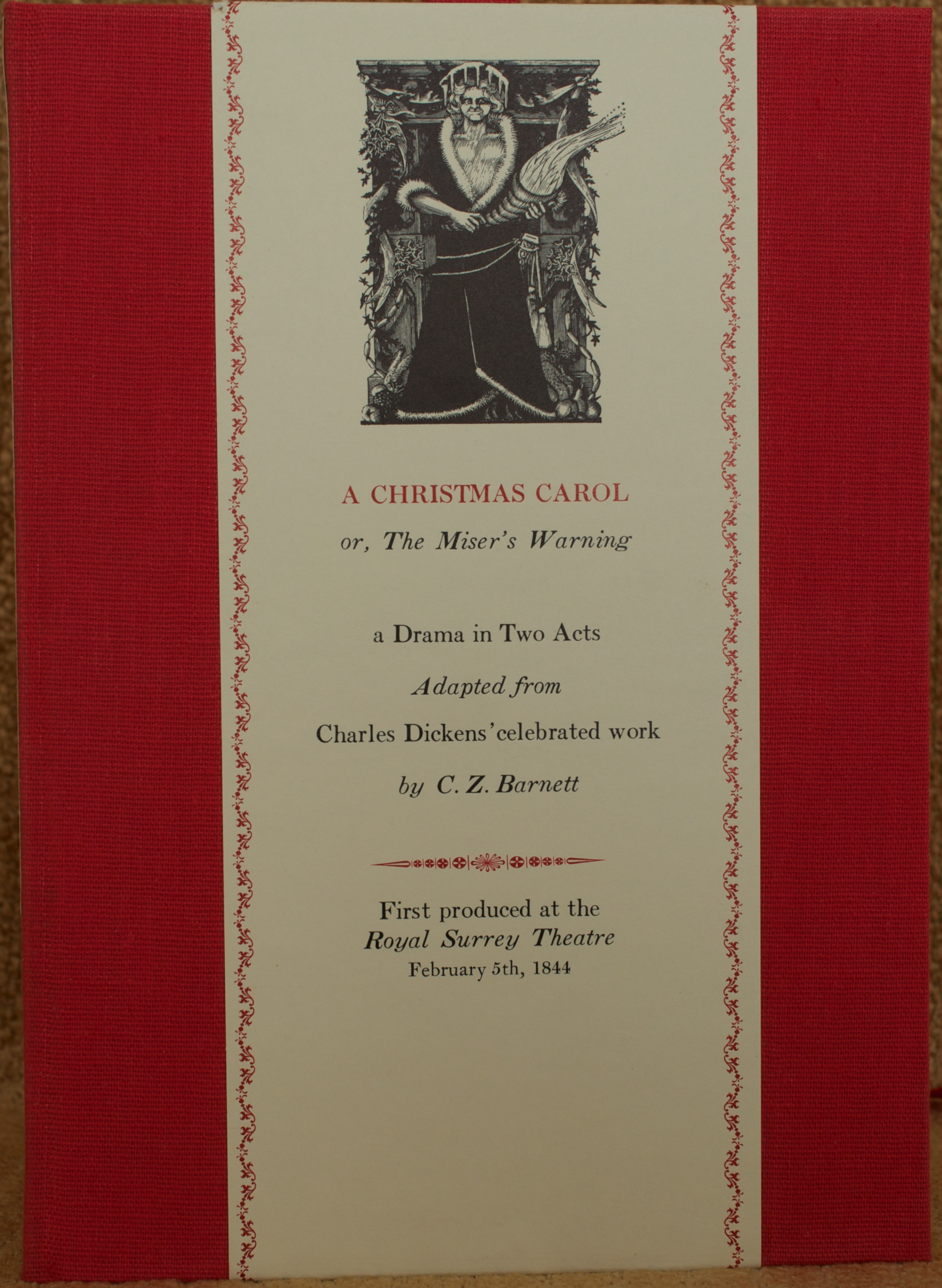 misers warning cover - When Was A Christmas Carol Published