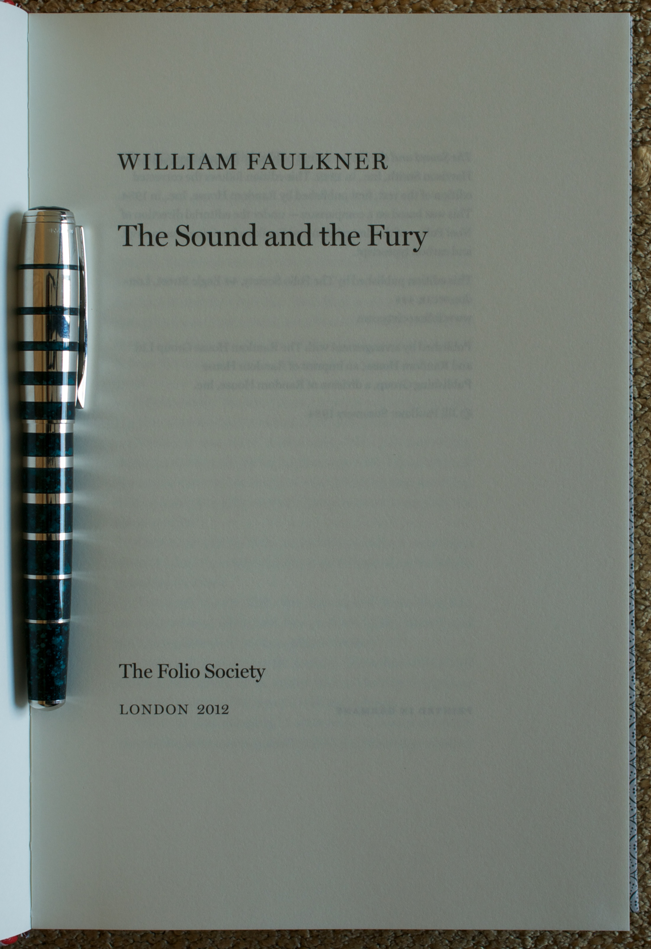 the sound and the fury by william faulkner published by the folio sound and the fury 2