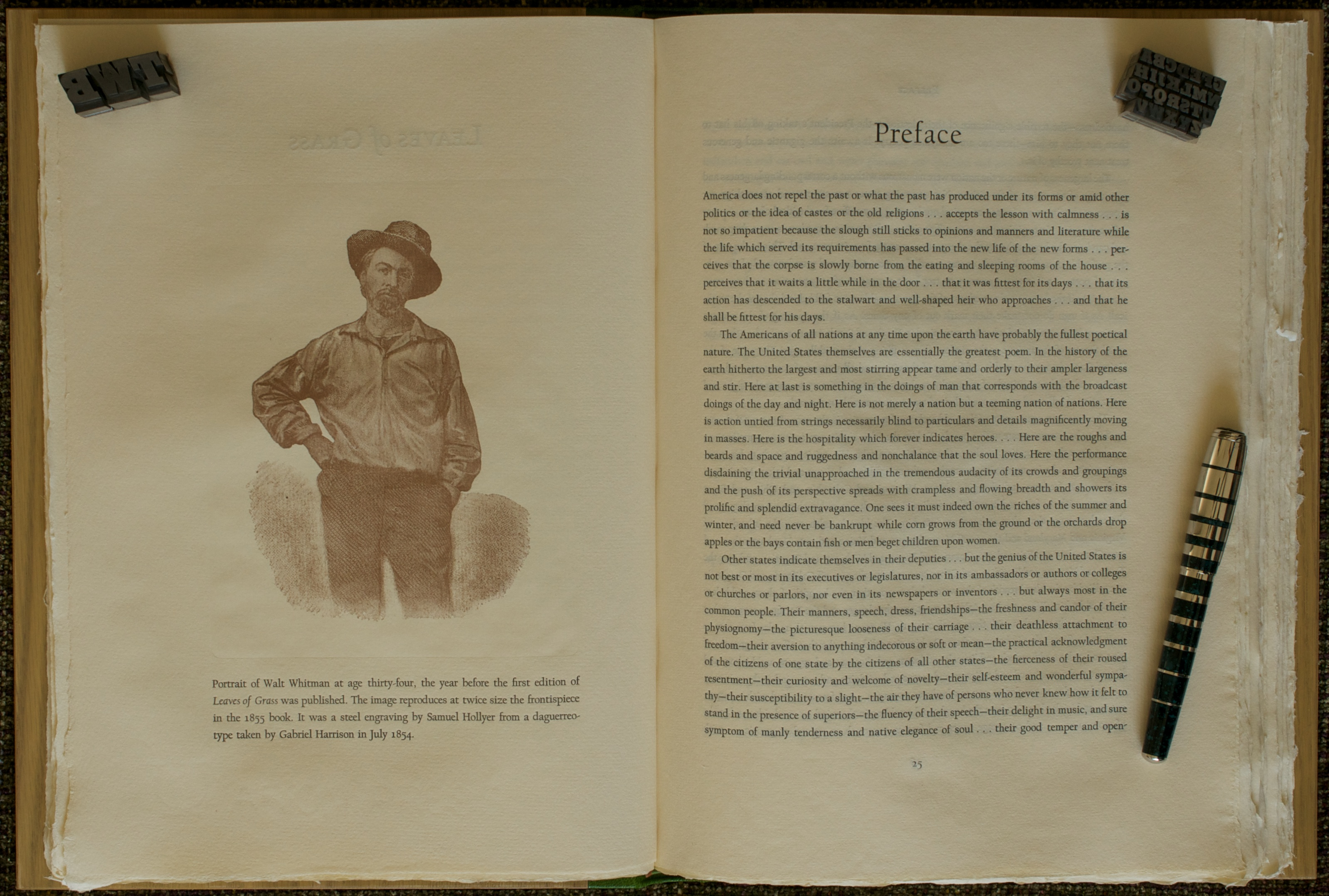 preface to leaves of grass He experimented constantly each edition of leaves of grass went through multiple issues,  and leaves and roots that grow out of his  1855 preface 1855 front.