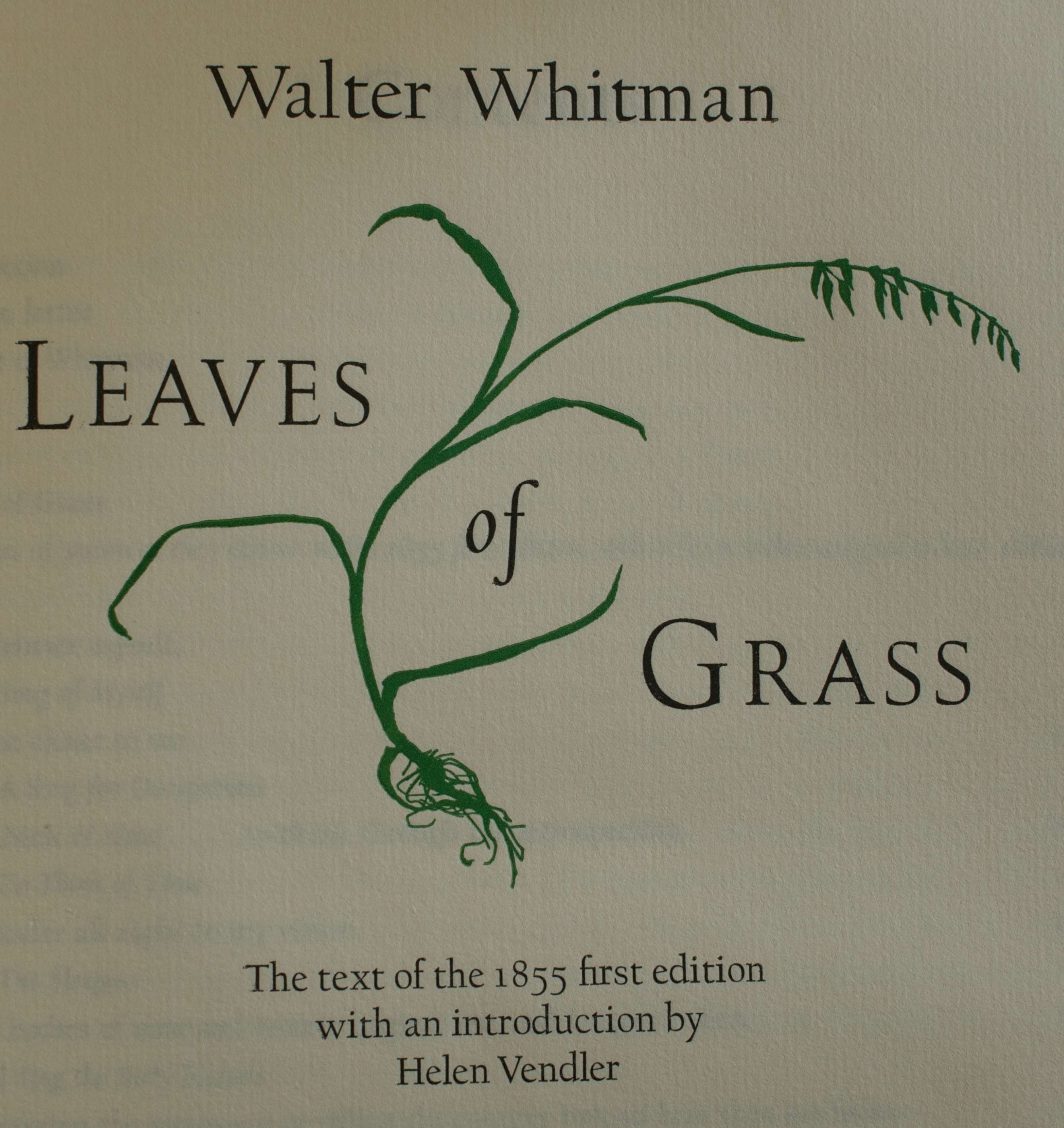 Leaves of Grass/Book I